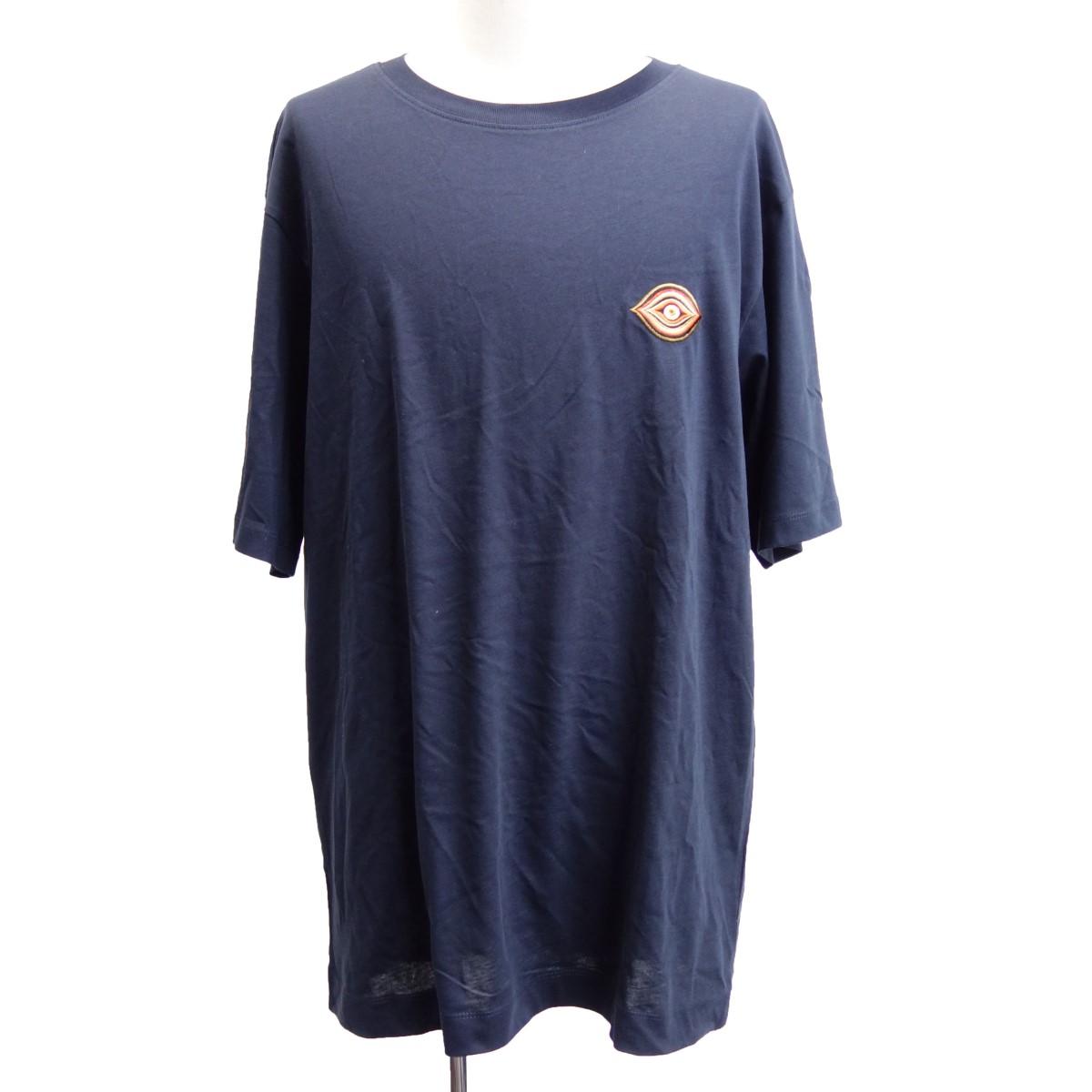 【中古】DRIES VAN NOTEN 18AW 胸EYE刺繍Tシャツ ブラック サイズ:L 【290420】(ドリスヴァンノッテン)