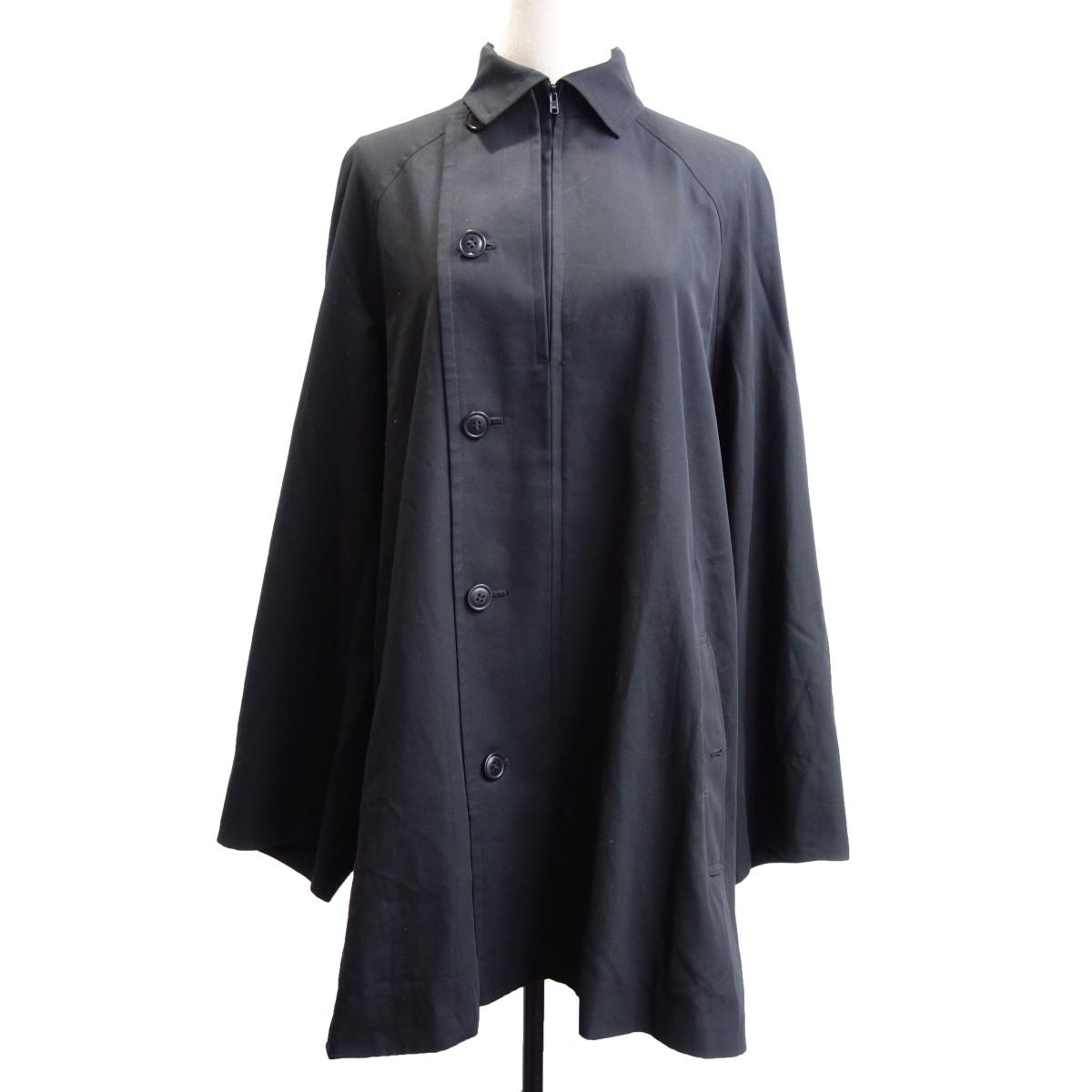 【中古】YOHJI YAMAMOTO NOIR 17SS ステンカラーコート ブラック サイズ:2 【290420】(ヨウジヤマモトノアール)