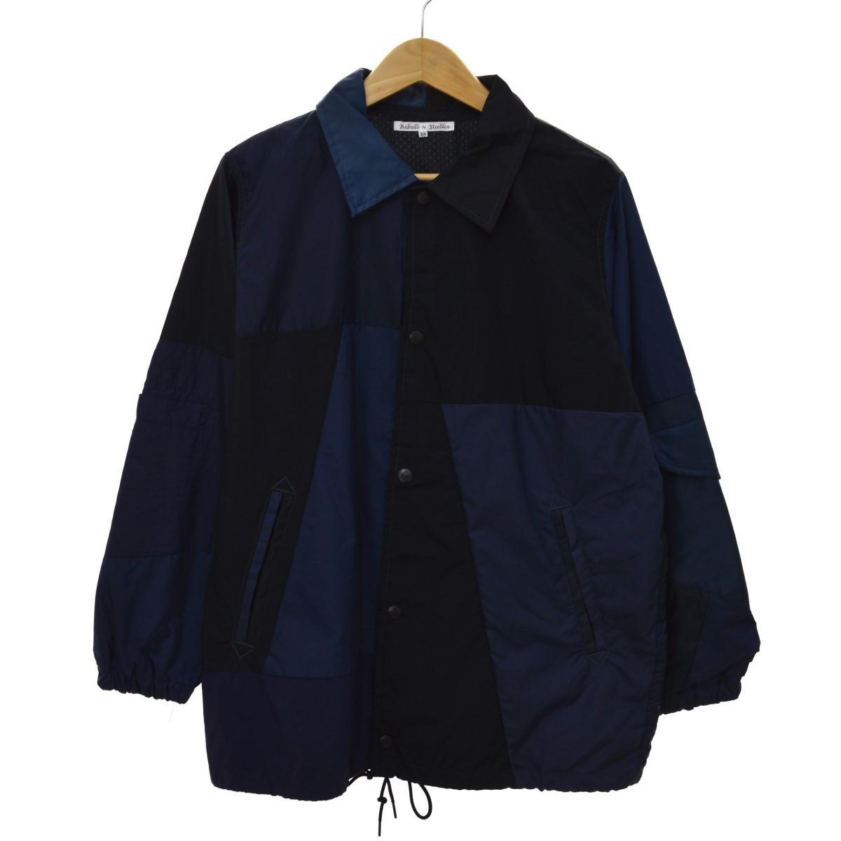 【中古】REBUILD BY NEEDLES 19SS Nylon Jacket-Coach Jacket ブルゾン ネイビー サイズ:XS 【300420】(リビルドバイニードルズ)