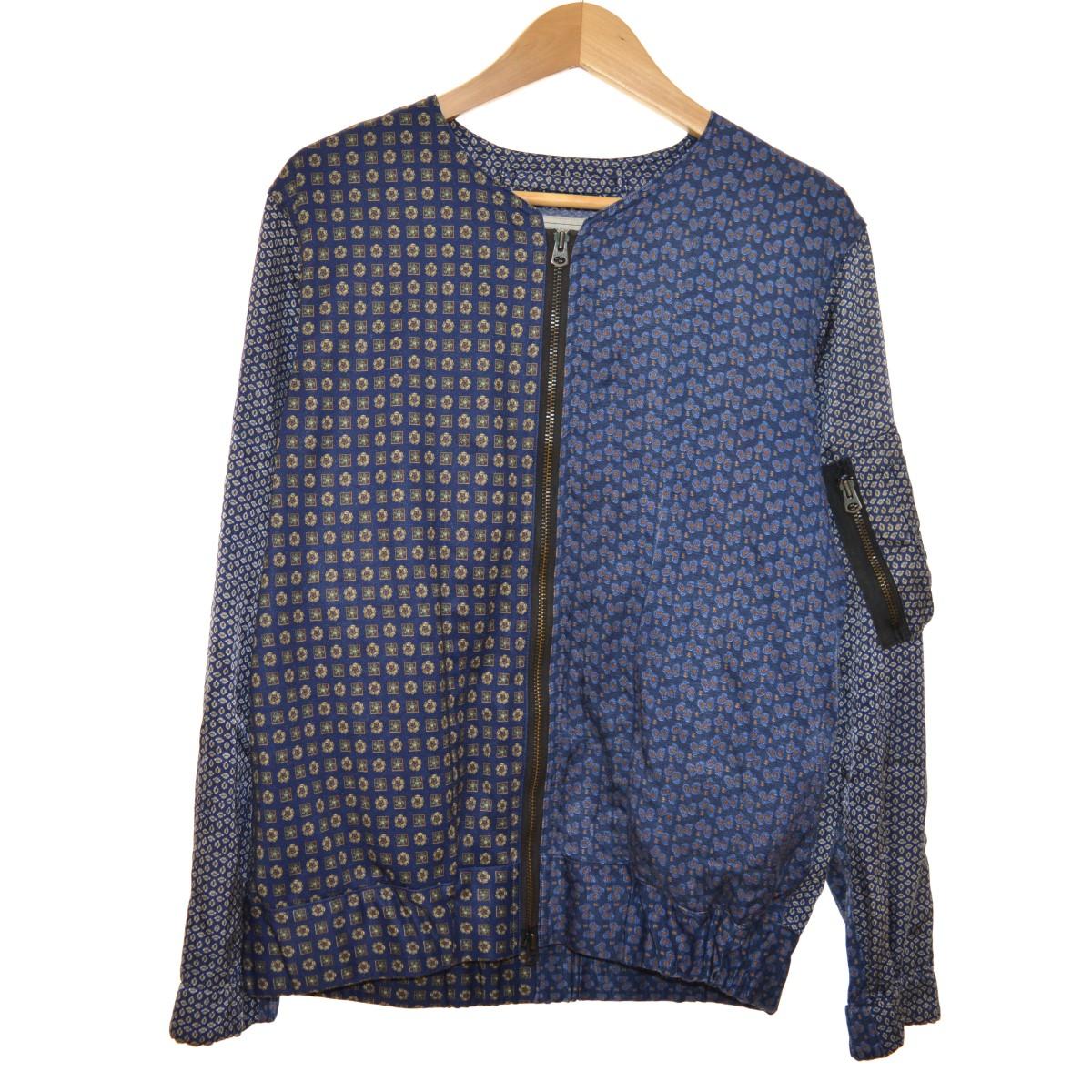 【中古】INK Euro Pajamas G1 Fright Blouson 再構築ノーカラージャケット ネイビー サイズ:M 【300420】(インク)