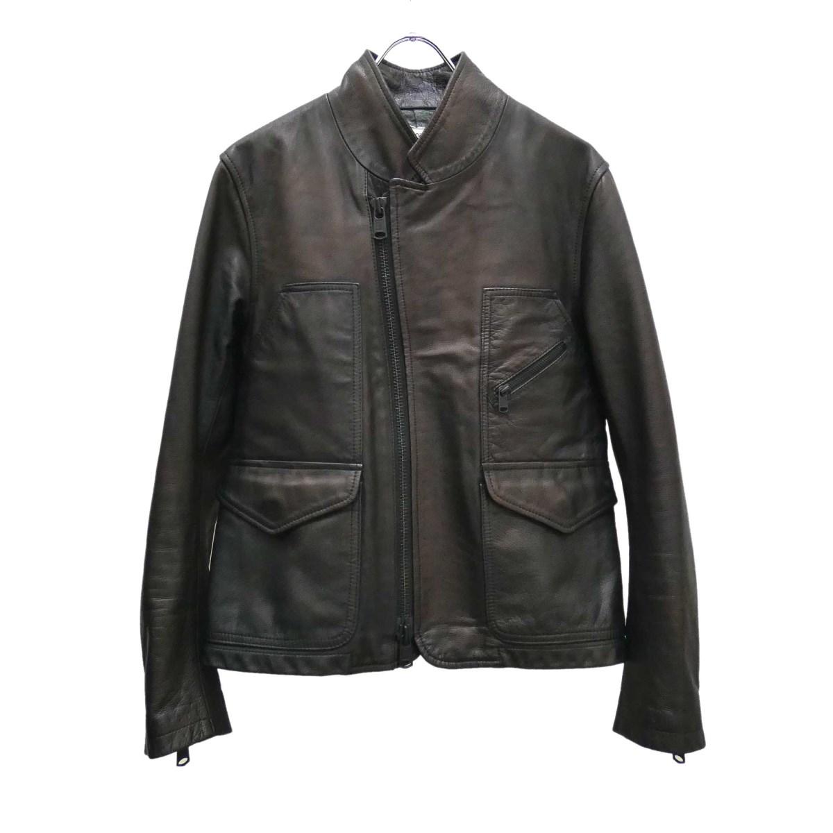 【中古】nonnativeRIDER SHORT JACKET レザージャケット NN-J2208 ブラック サイズ:1 【5月11日見直し】