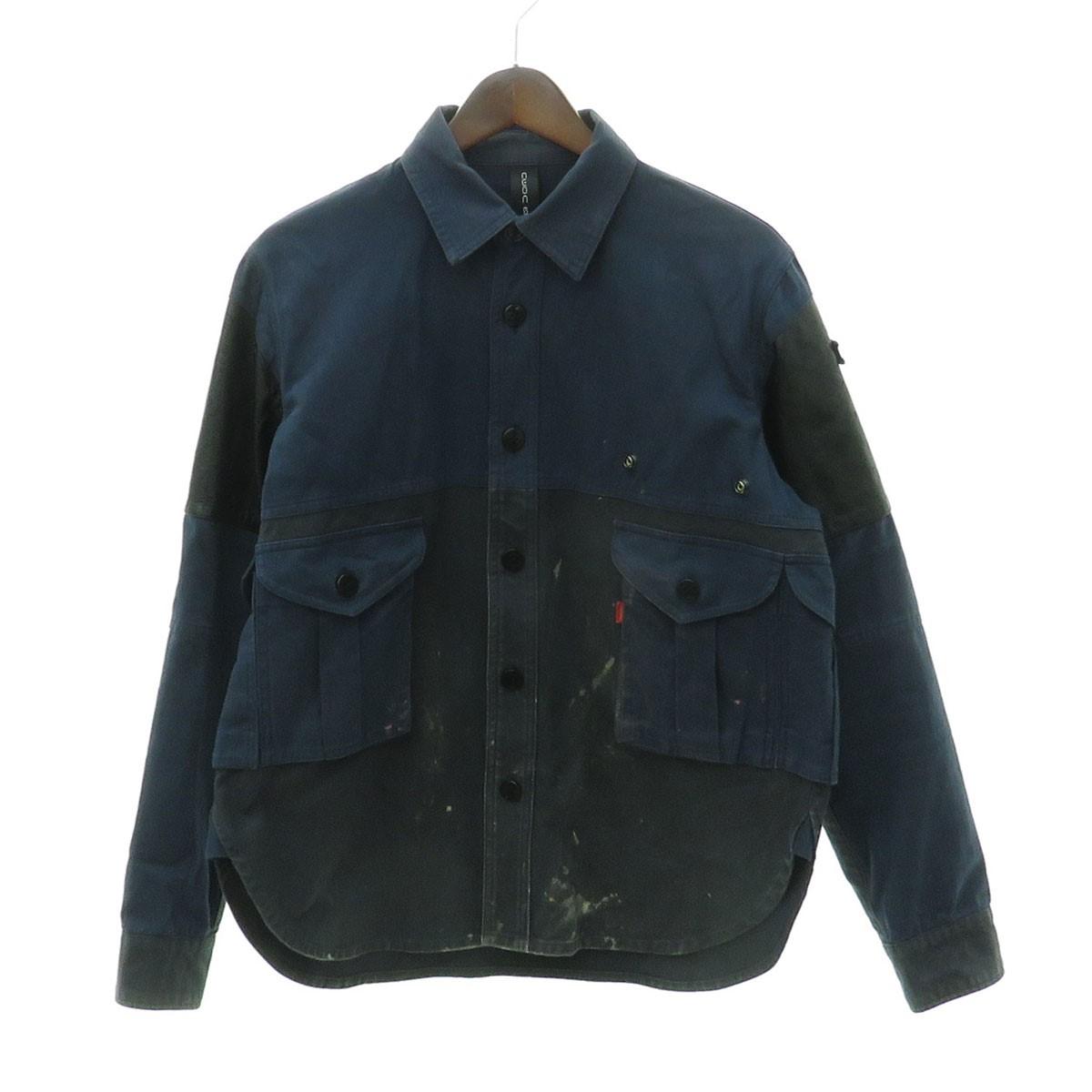 【中古】NEON SIGN リメイクシャツジャケット ネイビー×ブラック サイズ:2 【300420】(ネオンサイン)