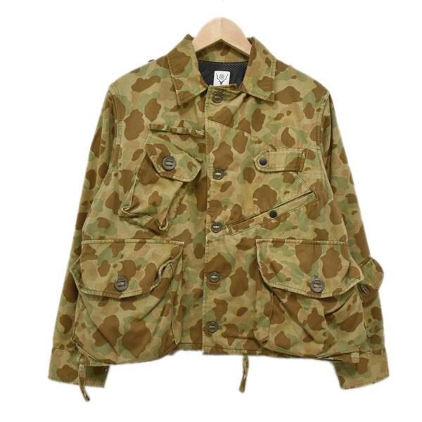 【中古】SOUTH2 WEST8 TENKARA SHIRT 総柄テンカラシャツ カーキ サイズ:S 【300420】(サウス2ウエスト8)