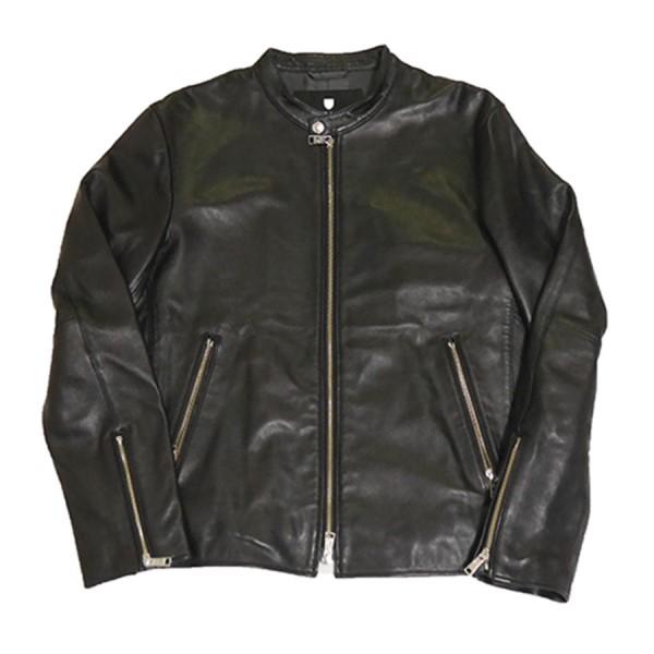 【中古】BLACK LABEL CRESTBRIDGE ライト ウェイト シングル ライダース ジャケット ブラック サイズ:L 【300420】(ブラックレーベルクレストブリッジ)