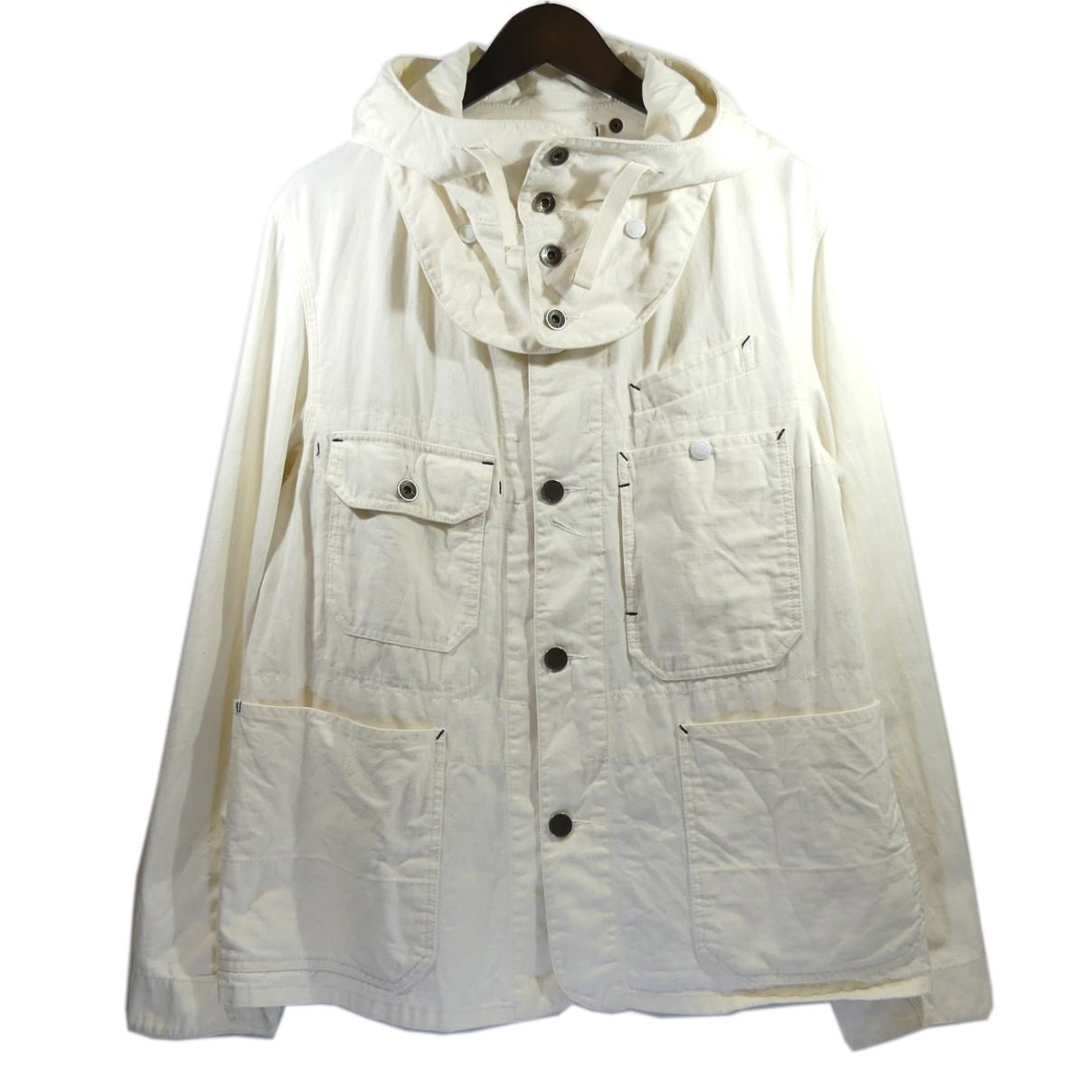【中古】Engineered Garments Short Coverall Jacket-6.5oz Flat Twill カバーオールジャケット オフホワイト サイズ:M 【300420】(エンジニアードガーメンツ)