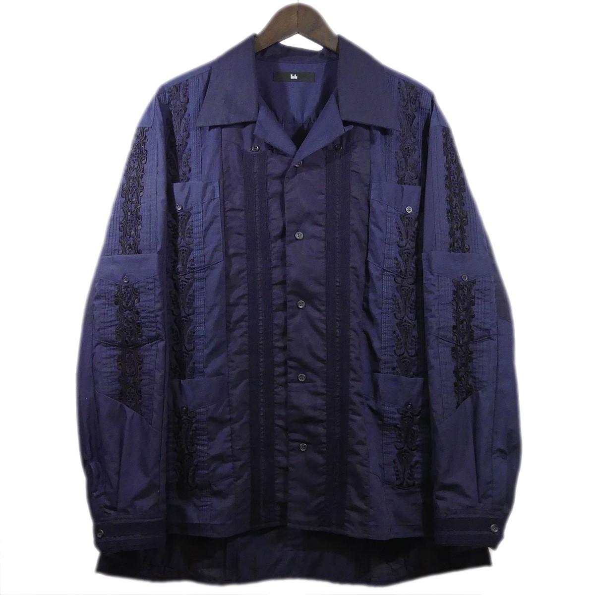 【中古】INK UNITY CODA オープンカラー シャツ ネイビー サイズ:M 【300420】(インク)