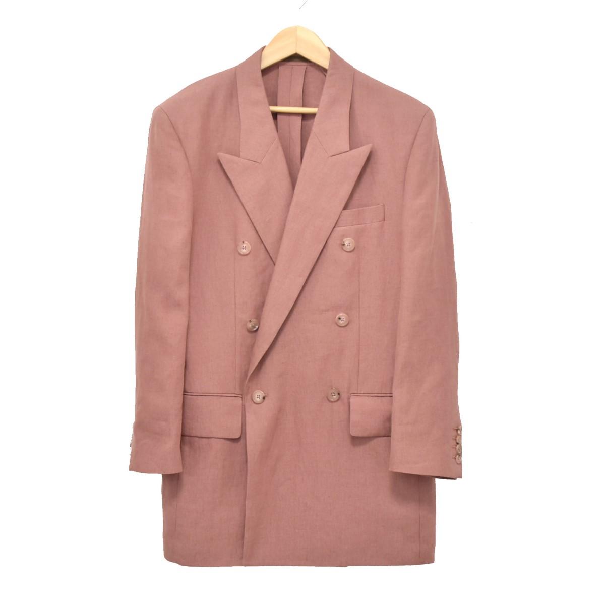 【中古】Paul Smith 20SS リネンダブルブレストジャケット ピンク サイズ:S 【010520】(ポールスミス)