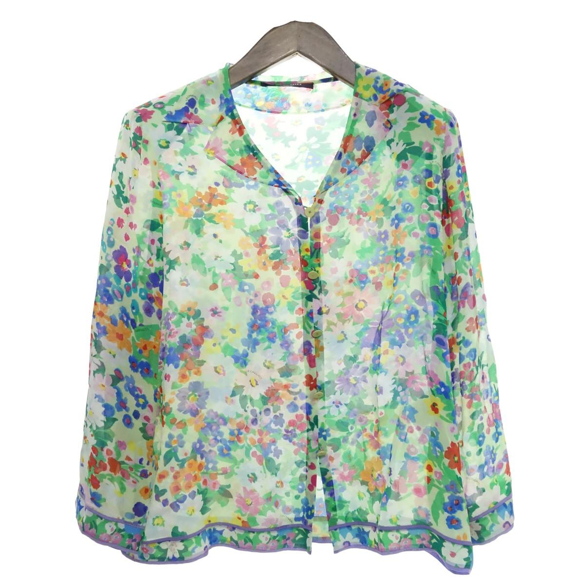 【中古】LEONARD オープンカラーシャツジャケット グリーン サイズ:13R 【010520】(レオナール)