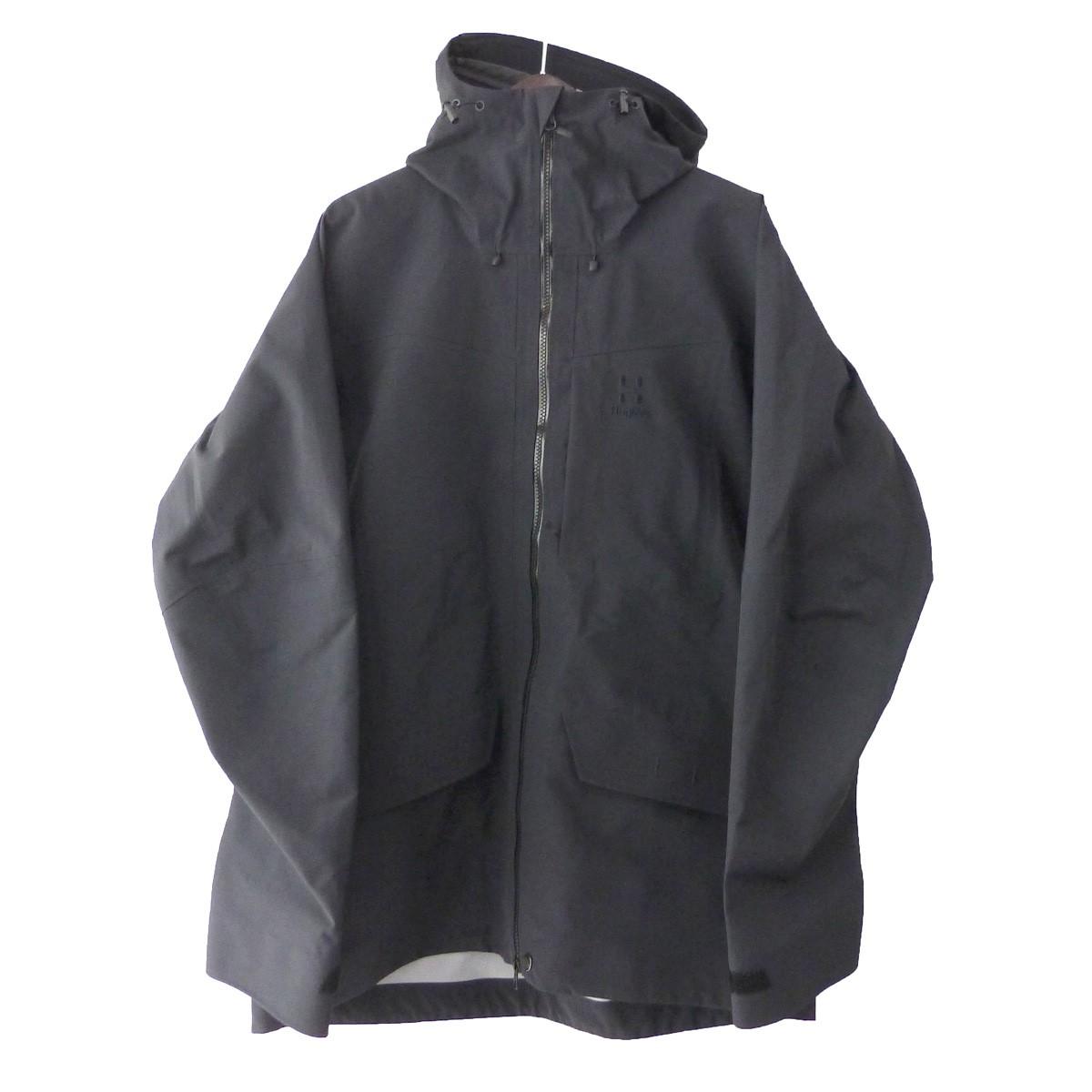 【中古】HAGLOFS 「Grym Evo Jacket」 グリムエボジャケット ブラック サイズ:L 【010520】(ホグロフス)