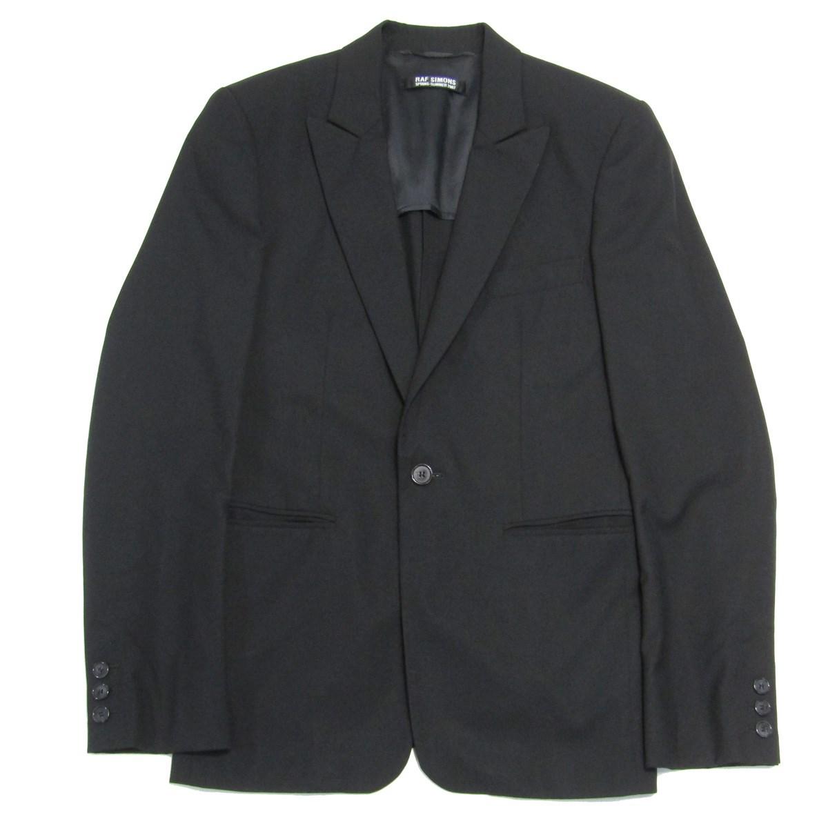 【中古】RAF SIMONS 2007SS テーラードジャケット ブラック サイズ:44 【010520】(ラフシモンズ)