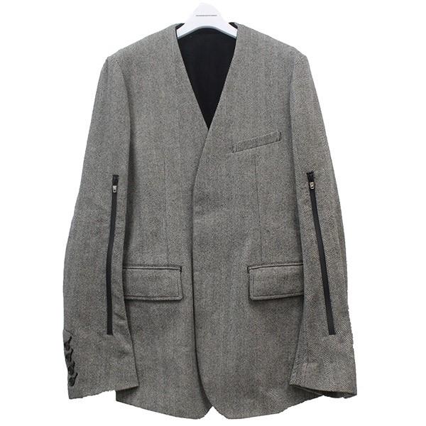 【中古】TAKAHIROMIYASHITA TheSoloIst. 2018AW ジャケット ブラック×グレー サイズ:48 【010520】(タカヒロミヤシタザソロイスト)