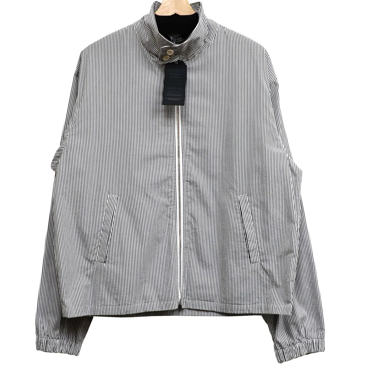 【中古】UNUSED 19SS Stripe Jacketストライプジャケット グレー サイズ:2 【010520】(アンユーズド)