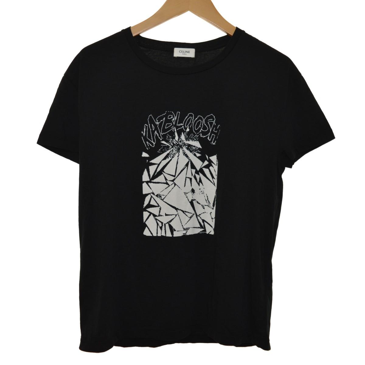 【中古】CELINE 19SS X CHRISTIAN MARCLAY KABLOOSH PRINT TEE ブラック サイズ:S 【020520】(セリーヌ)
