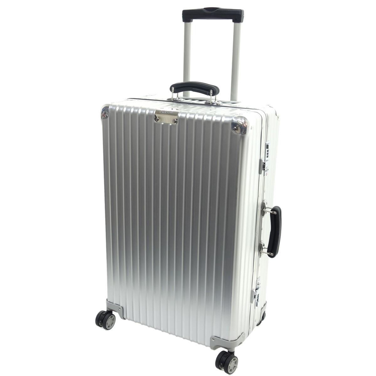 【中古】RIMOWA CLASSIC CHECK-IN M アルミスーツケース シルバー 【020520】(リモワ)