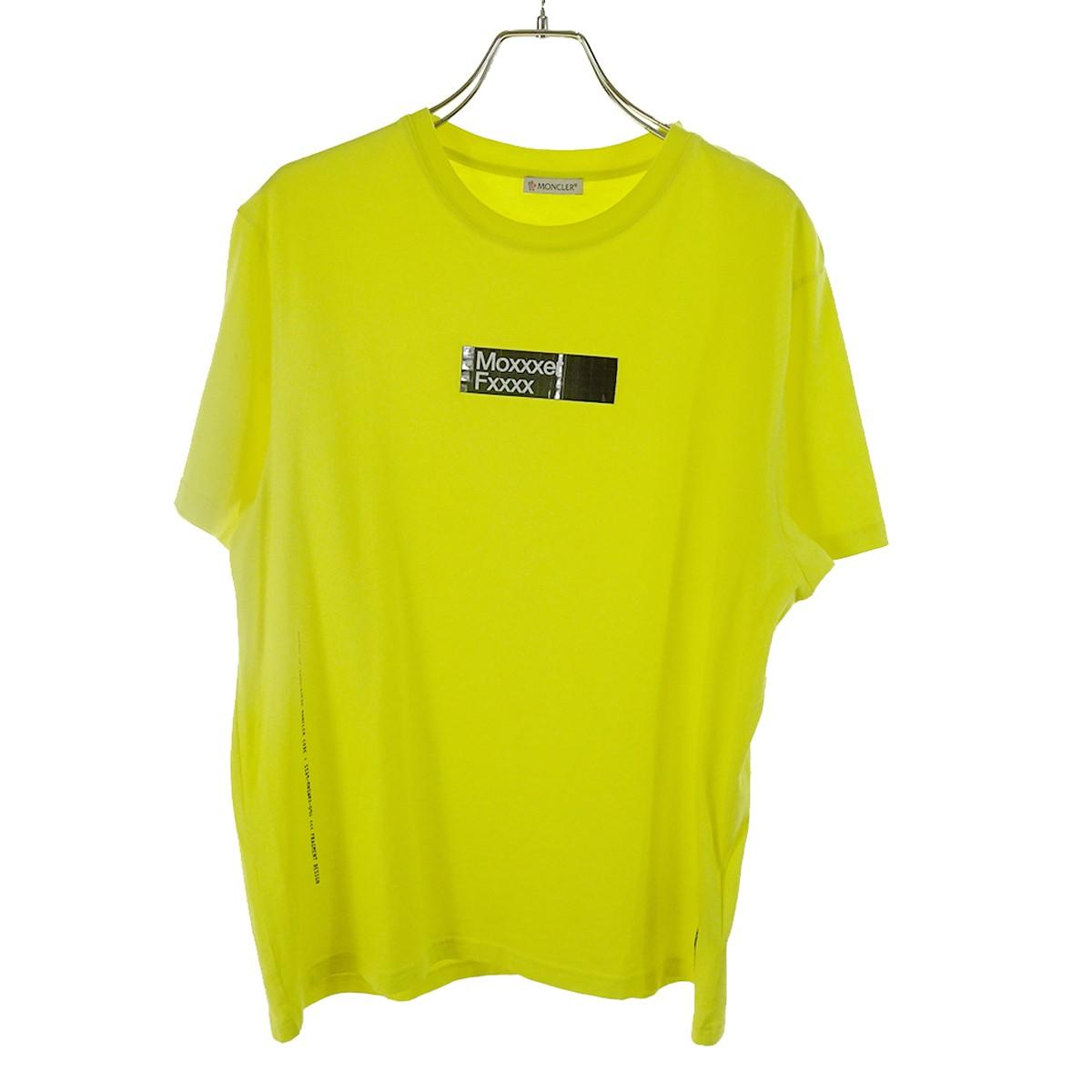 【中古】MONCLER×FRAGMENT Moxxxer Fxxxx Tシャツ イエロー サイズ:S 【020520】(モンクレール×フラグメント)