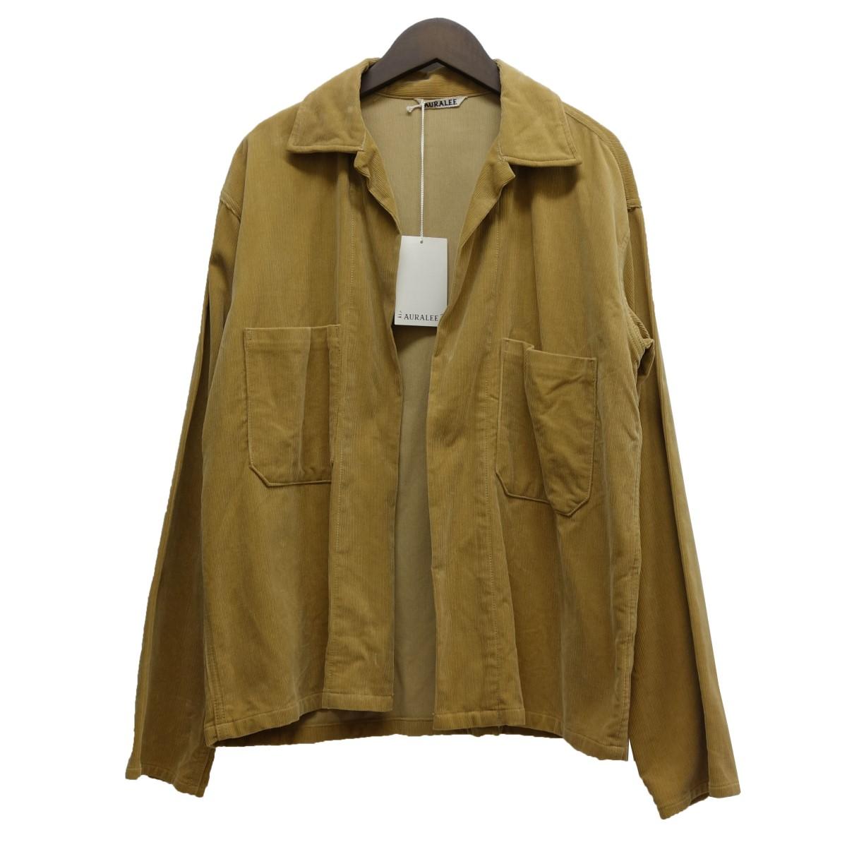 【中古】AURALEE 17SS「WASHED CORDUROY SHIRTS JACKET」コーデュロイシャツジャケット キャメル サイズ:3 【020520】(オーラリー)