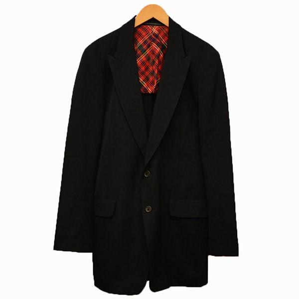 【中古】Y's for men 2B テーラードジャケット ブラック サイズ:3 【010520】(ワイズフォーメン)
