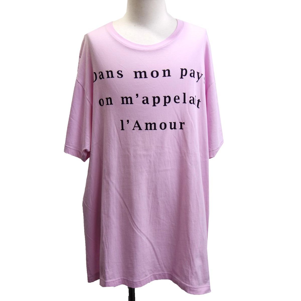 【中古】GUCCI 19SS 539081 バックスカルプリントTシャツ ピンク サイズ:M 【020520】(グッチ)