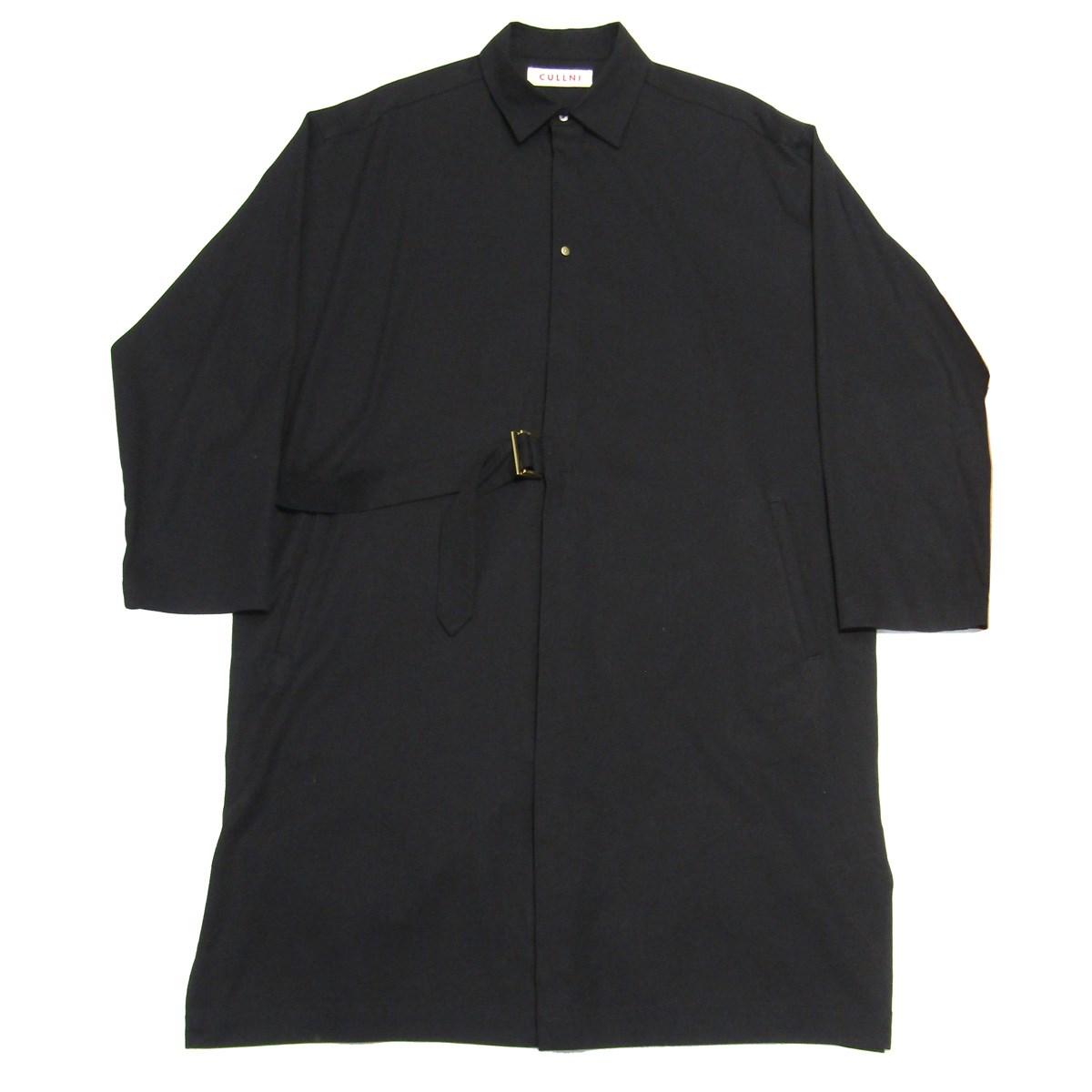 【中古】CULLNI 2020SS タイロッケンドルマンシャツコート ブラック サイズ:1 【020520】(クル二)