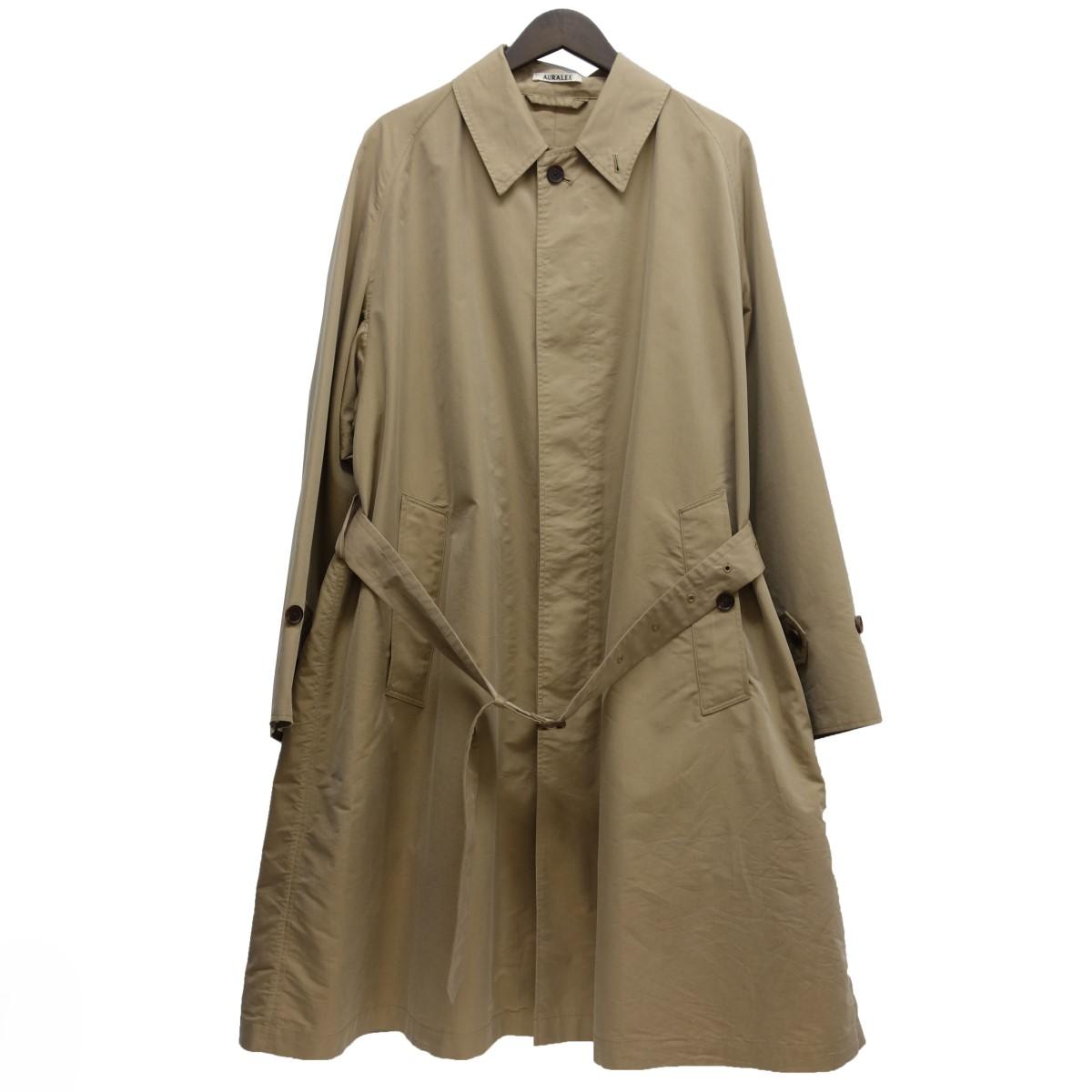 【中古】AURALEE FINX POLYESTER DOUBLE CLOTH SOUTIEN COLLAR COAT ベージュ サイズ:4 【020520】(オーラリー)