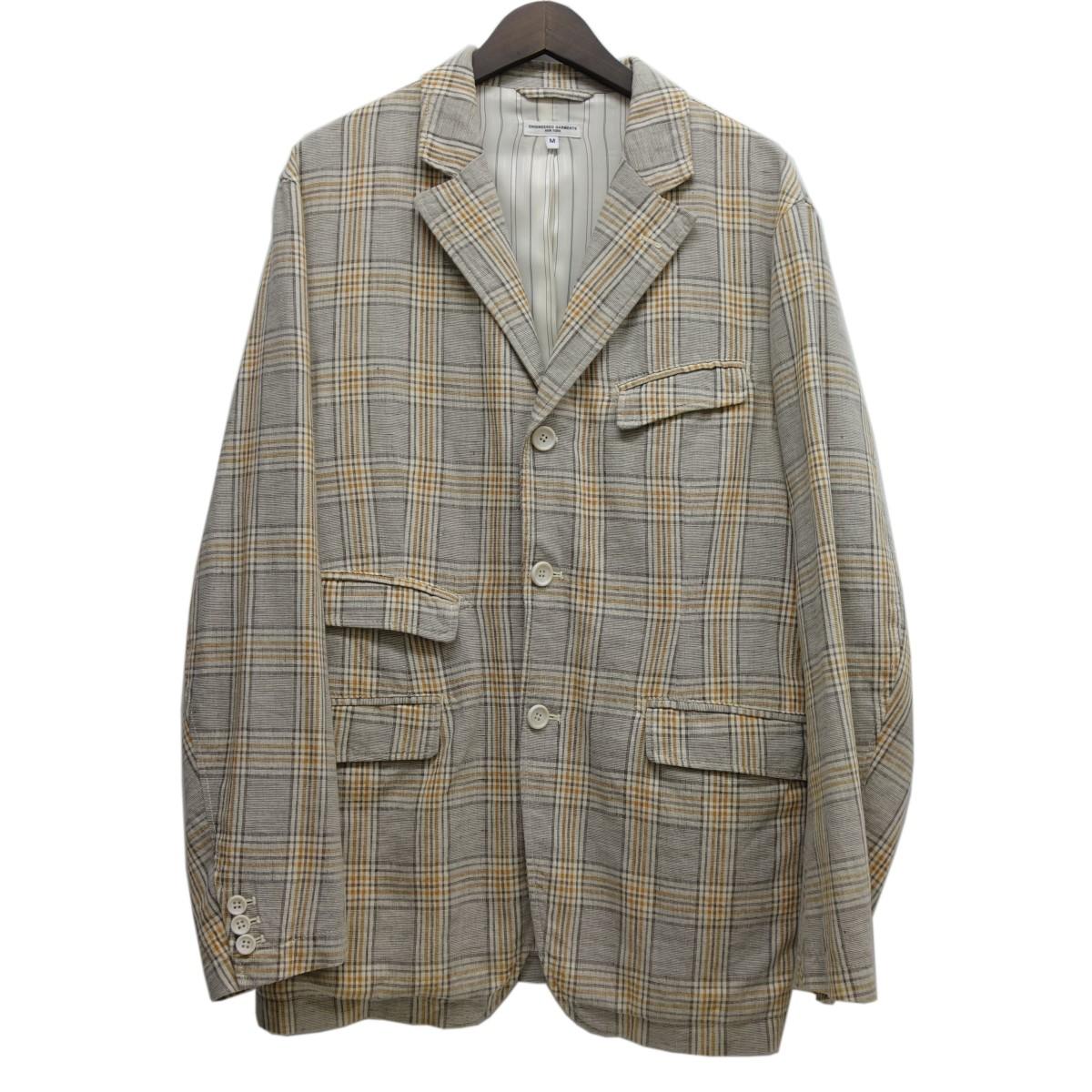 【中古】Engineered Garments 「Andover Jacket」チェックアンドーバージャケット ライトグレー×ベージュ サイズ:M 【020520】(エンジニアードガーメンツ)
