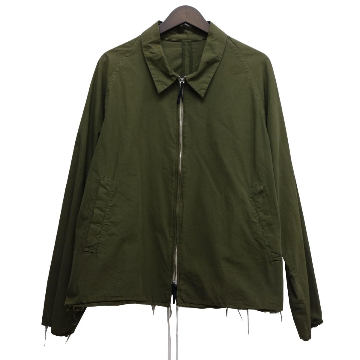 【中古】bukht 「DROP COLLOR BLOUSON」ZIPUPジャケット オリーブ サイズ:1(M) 【020520】(ブフト)
