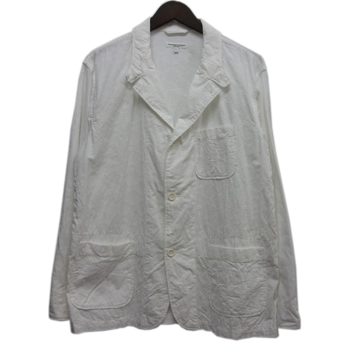 【中古】Engineered Garments 「LOITER JACKET」3Bジャケット ホワイト サイズ:L 【020520】(エンジニアードガーメンツ)
