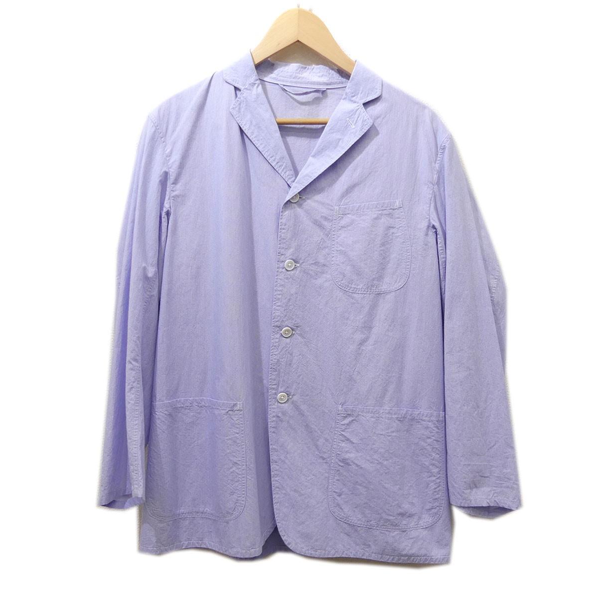 【中古】COMOLI 2015SS タイプライターコットン3Bシャツジャケット ブルー サイズ:1 【020520】(コモリ)