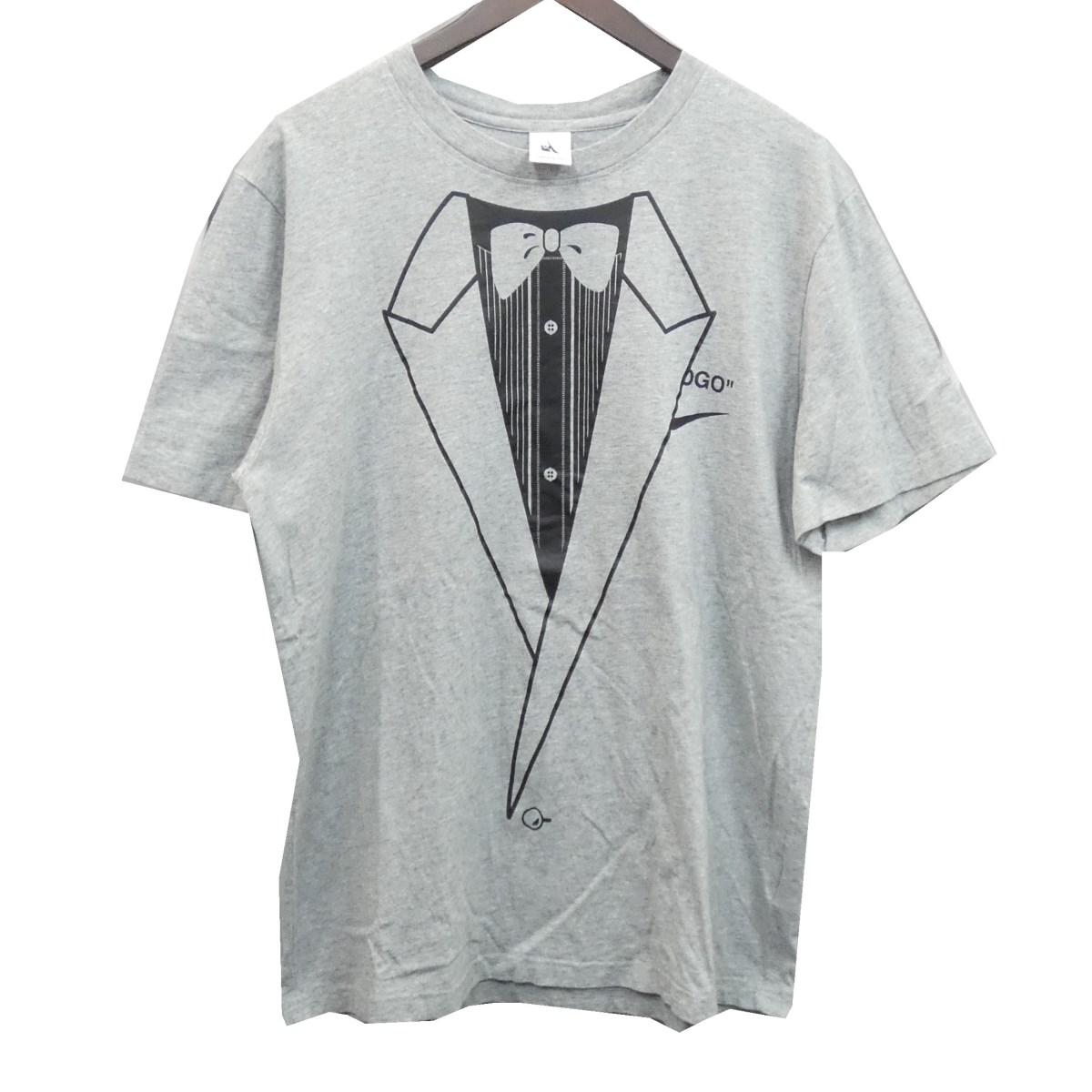 【中古】NIKE × OFFWHITE 18AW BQ0827-063 イーグルプリントTシャツ グレー サイズ:L 【020520】(ナイキ オフホワイト)
