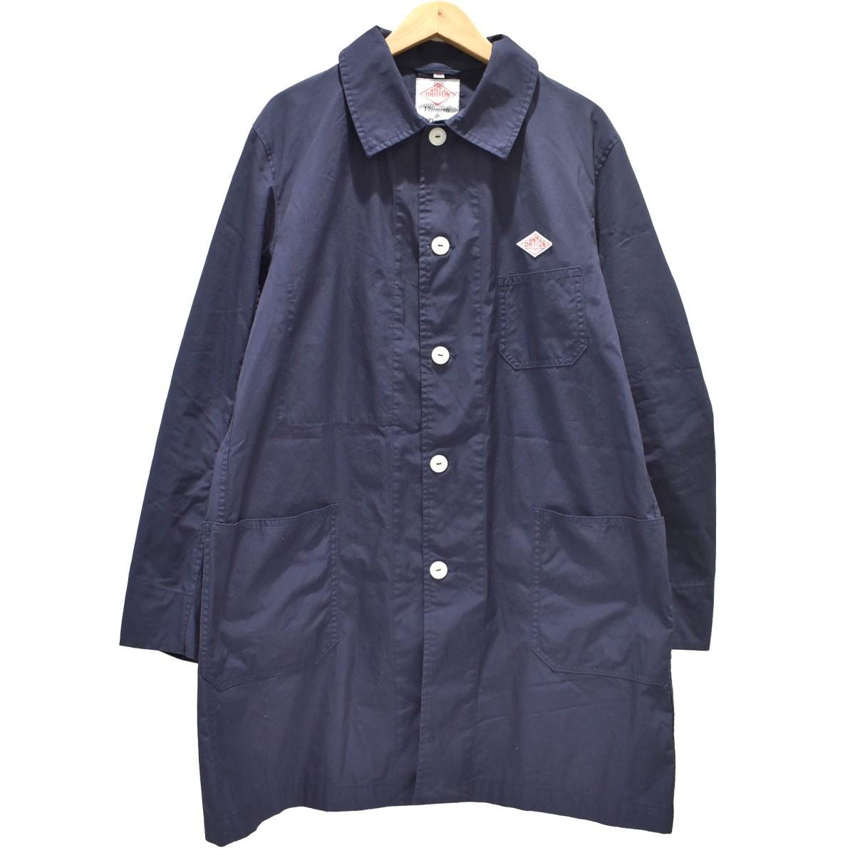 【中古】DANTON ×BEAMS 20SS ステンカラーコート ネイビー サイズ:42 【030520】(ダントン)