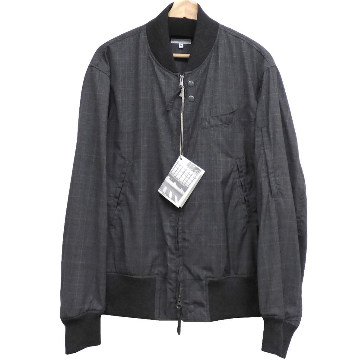 【中古】Engineered Garments 19SS Aviator Jacket-Tropical Wool Glen Plaid ジャケット グレー×ホワイト サイズ:M 【020520】(エンジニアードガーメンツ)