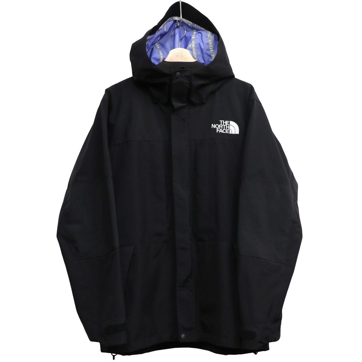 【中古】BEAMS×THE NORTH FACE 17AW Expedition Light Parkaライトジャケットマウンテンパーカー ブラック サイズ:XL 【020520】(ビームス×ザノースフェイス)