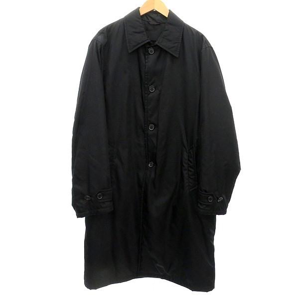 【中古】PRADA 中綿コート ブラック サイズ:L 【030520】(プラダ)
