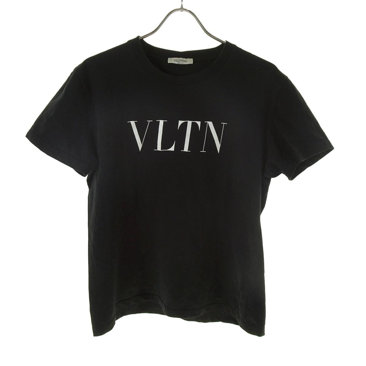 【中古】VALENTINO VLTN ロゴTシャツ ブラック サイズ:S 【030520】(ヴァレンチノ)