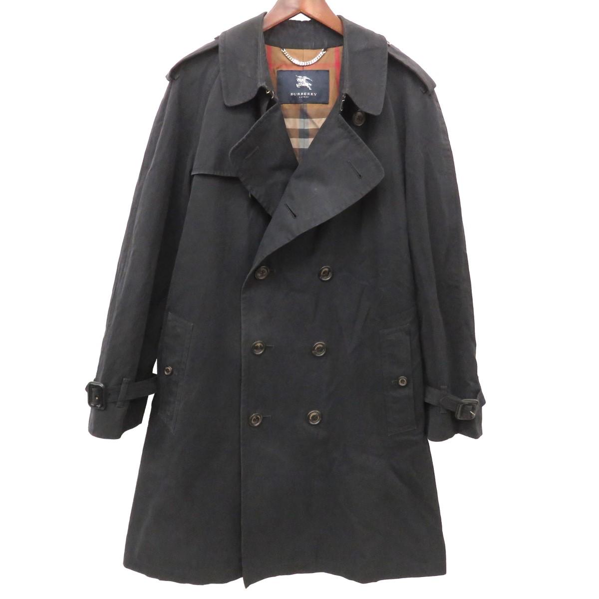 【中古】BURBERRY LONDON トレンチコート BBA45-500-29 ブラック サイズ:L 【030520】(バーバリーロンドン)