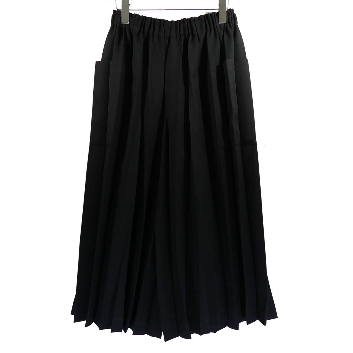 【中古】me ISSEY MIYAKE プリーツワイドパンツ ブラック サイズ:F 【030520】(ミーイッセイミヤケ)