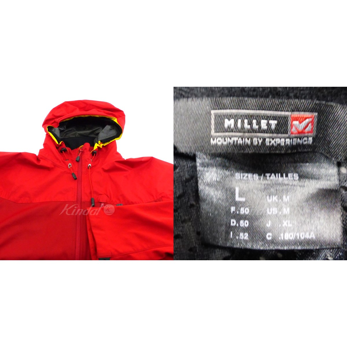MILLET COMPOSITE JACKET レッド サイズ L030520ミレーE9W2IDH