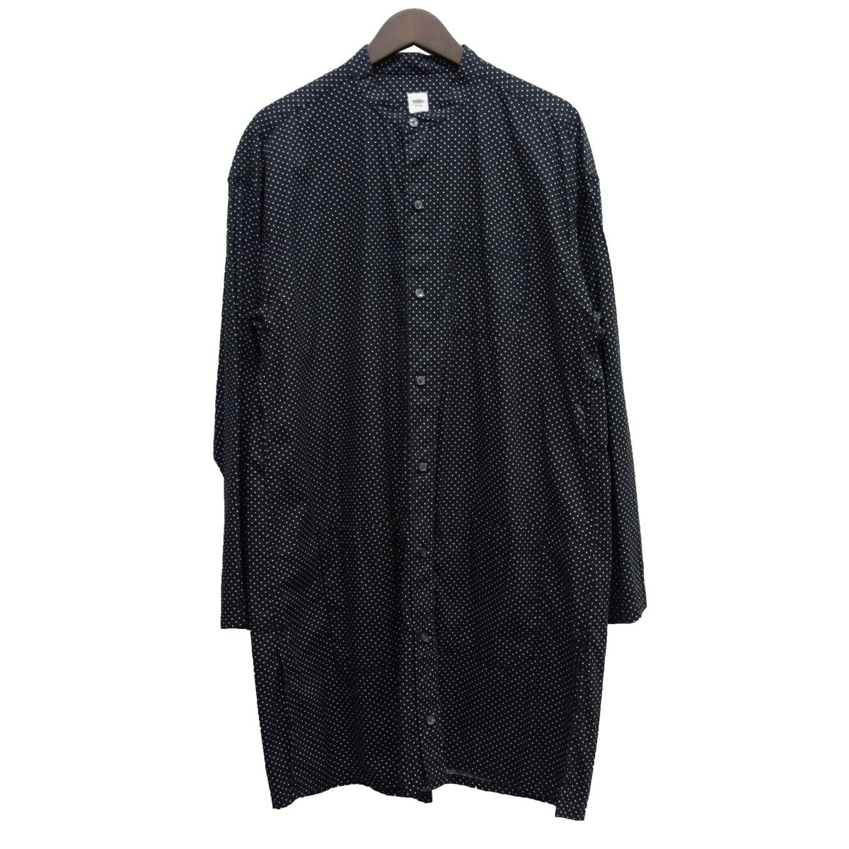 【中古】RANDT バンドカラードットシャツジャケット ブラック サイズ:S 【030520】(アールアンドティー)