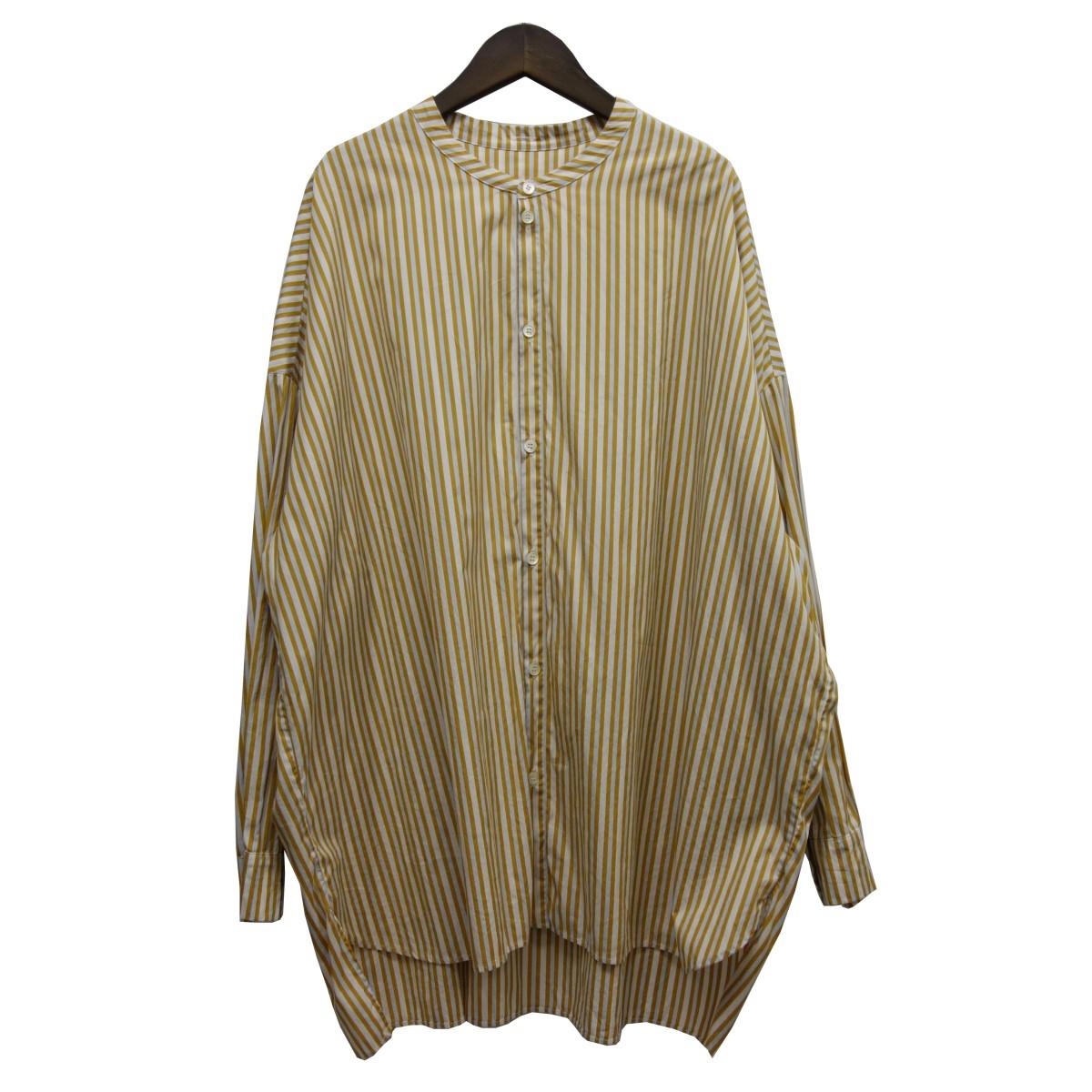 【中古】GALLEGO DESPORTES ストライプオーバーサイズシャツ イエロー サイズ:M 【030520】(ギャレゴデスポート)