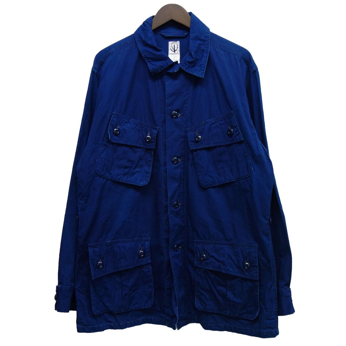 【中古】CORONA ミリタリージャケット ネイビー サイズ:L 【030520】(コロナ)