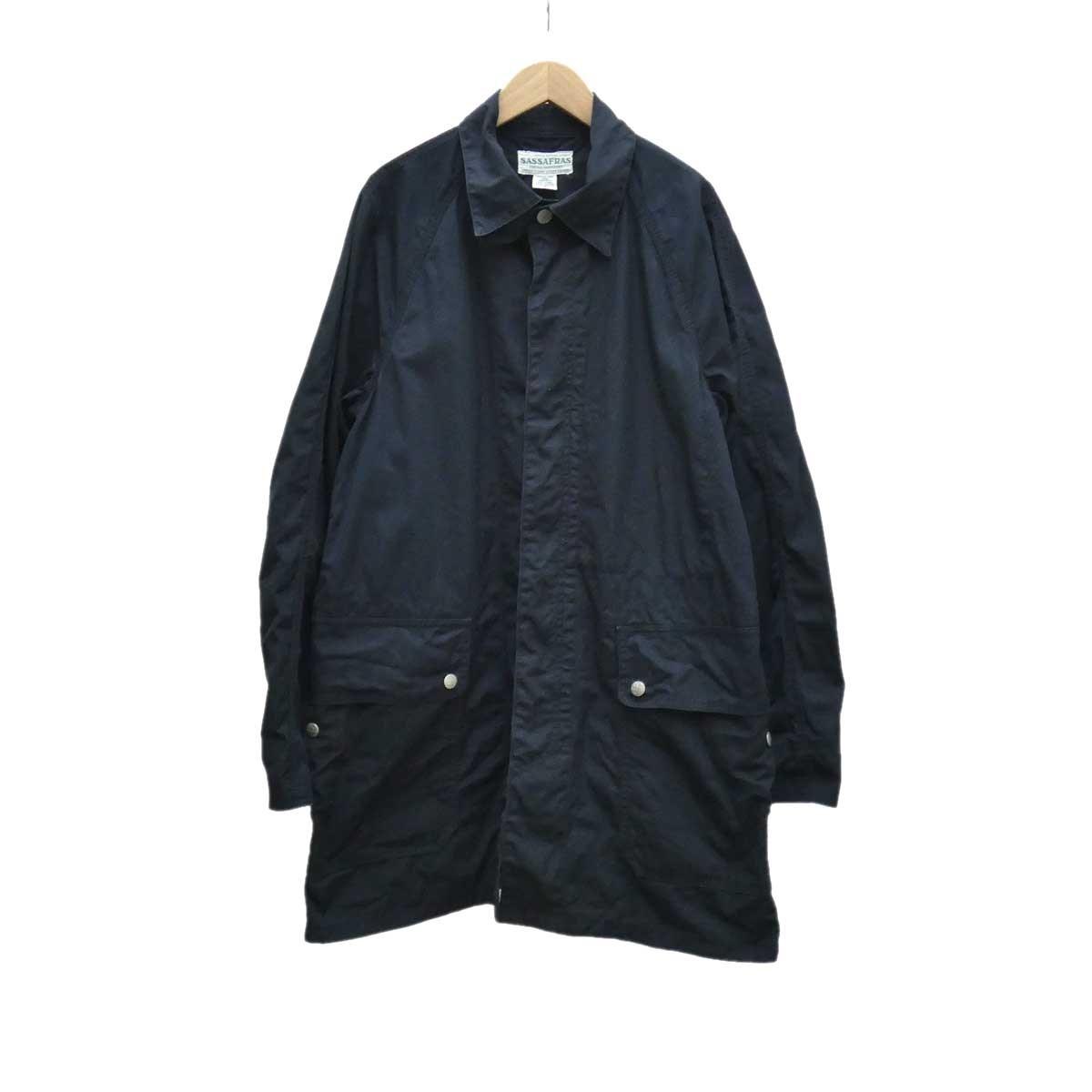 【中古】SASSAFRAS Fall Leaf Coat ネイビー サイズ:S 【040520】(ササフラス)