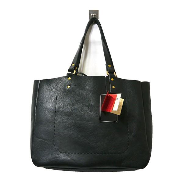 【中古】SLOW bono tote bag width type レザートートバッグ ブラック 【030520】(スロウ)