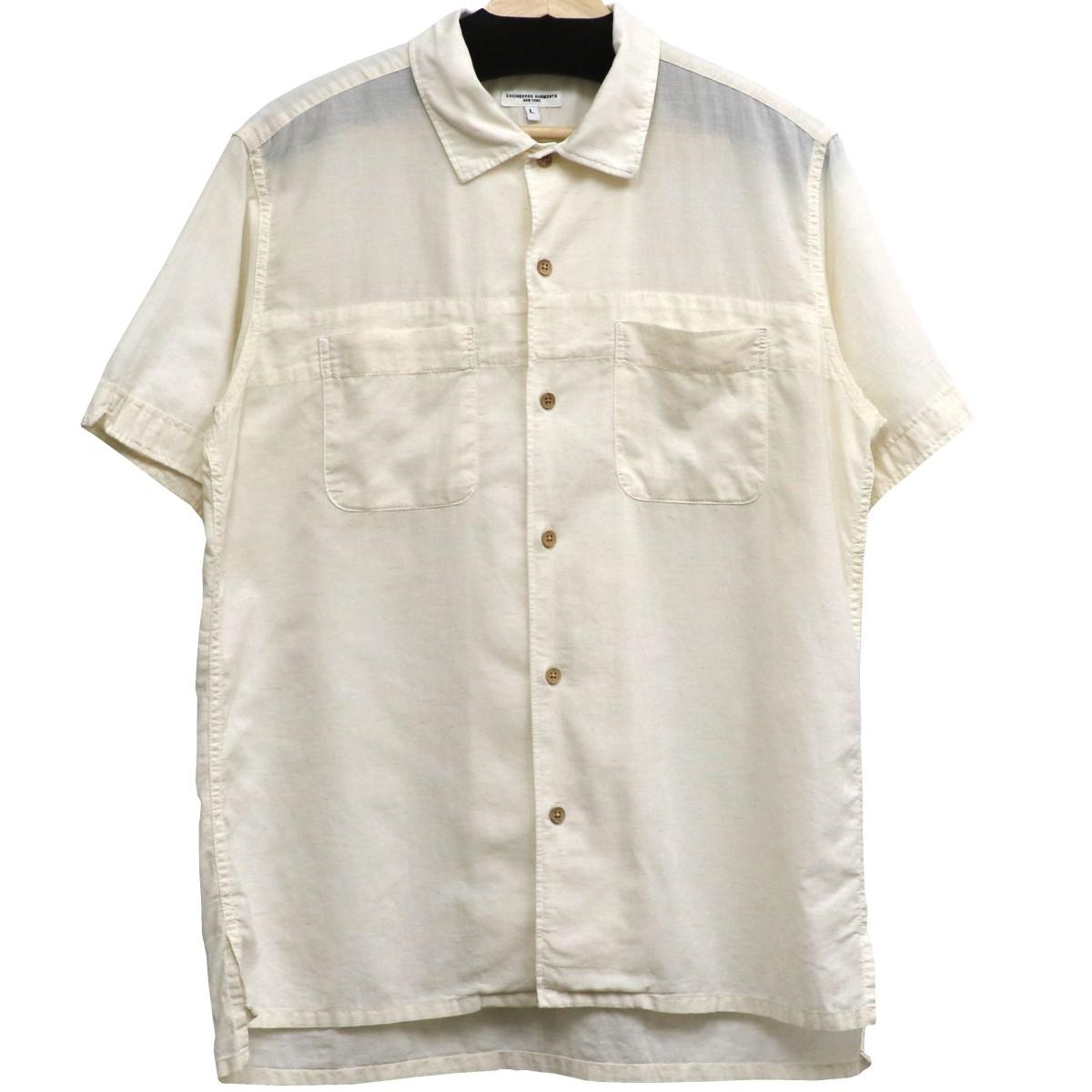 【中古】Engineered Garments リネン混ボタンシャツ オフホワイト サイズ:L 【030520】(エンジニアードガーメンツ)