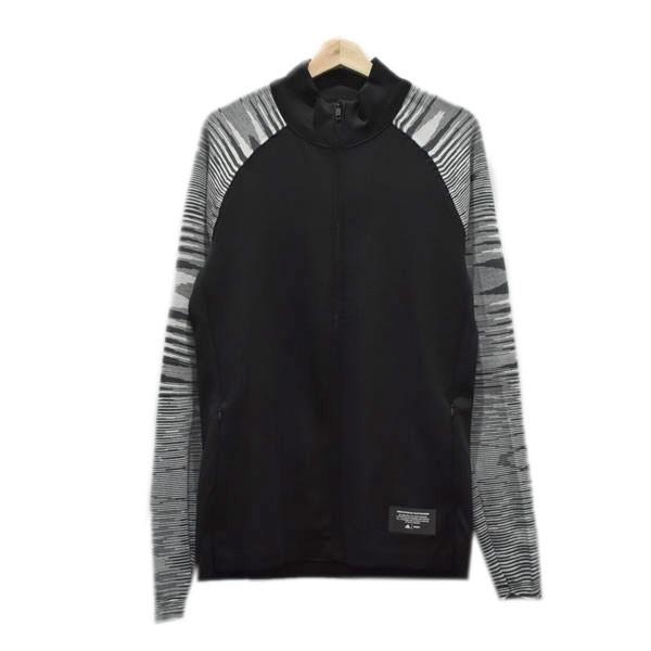 【中古】adidas ×Missoni 19SS ジップアップジャケット ブラック×グレー サイズ:S 【040520】(アディダス)