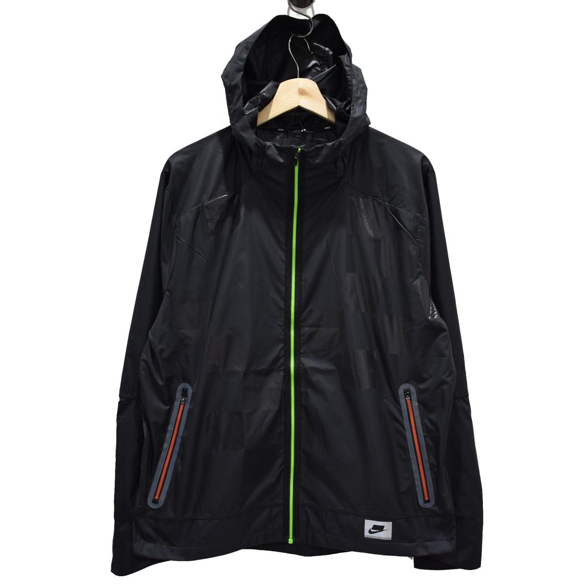 【中古】NIKE 19AW ワイルドラン シールドジャケット ジップアップブルゾン ブラック サイズ:L 【040520】(ナイキ)