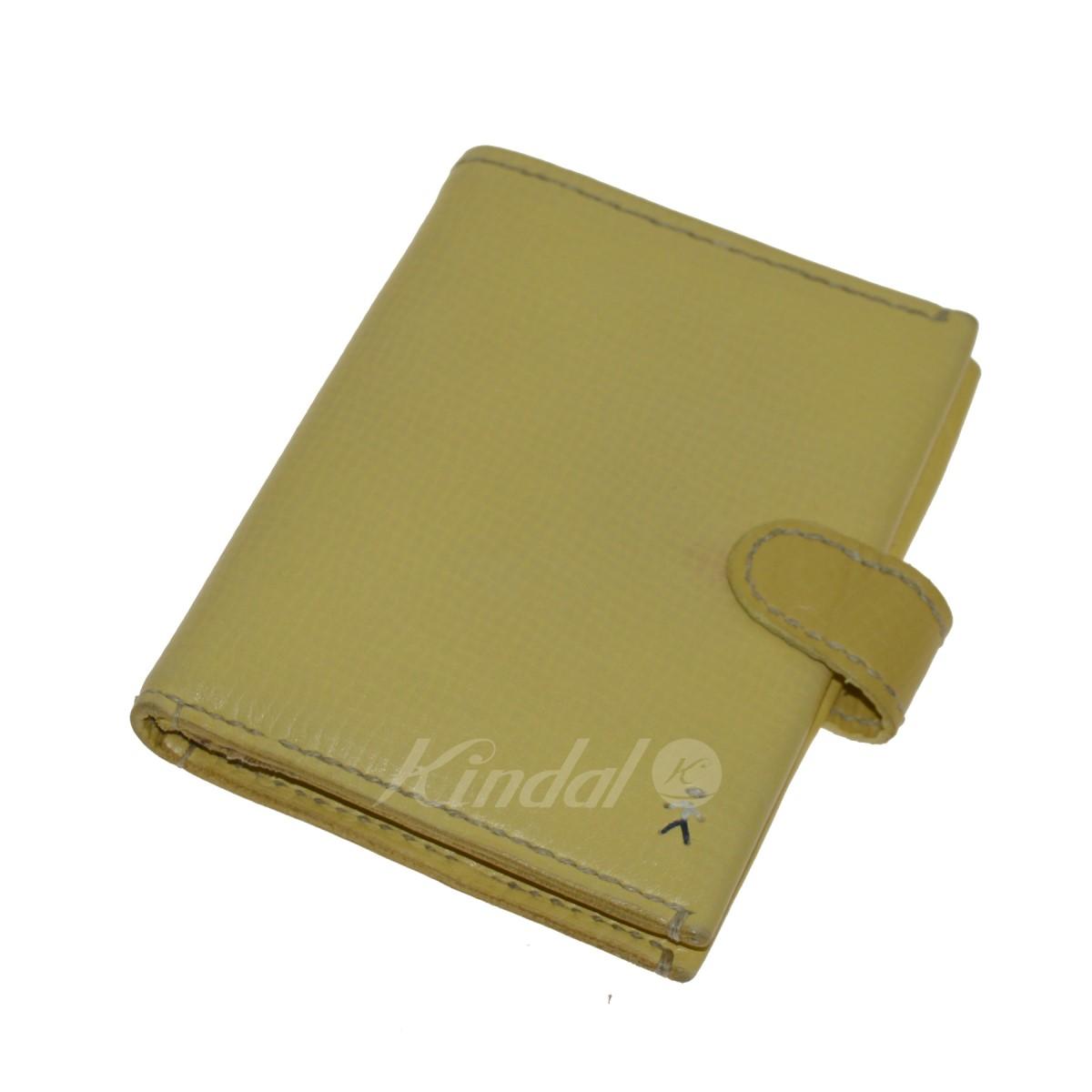 【中古】HENRY BEGUELIN オミノ刺繍レザー財布 イエロー 【040520】(エンリーベグリン)