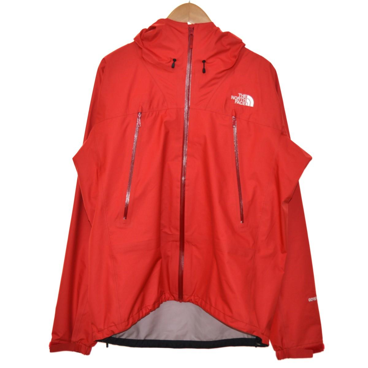 【中古】THE NORTH FACE クライムベーリーライトジャケット マウンテンパーカー レッド サイズ:L 【040520】(ザノースフェイス)