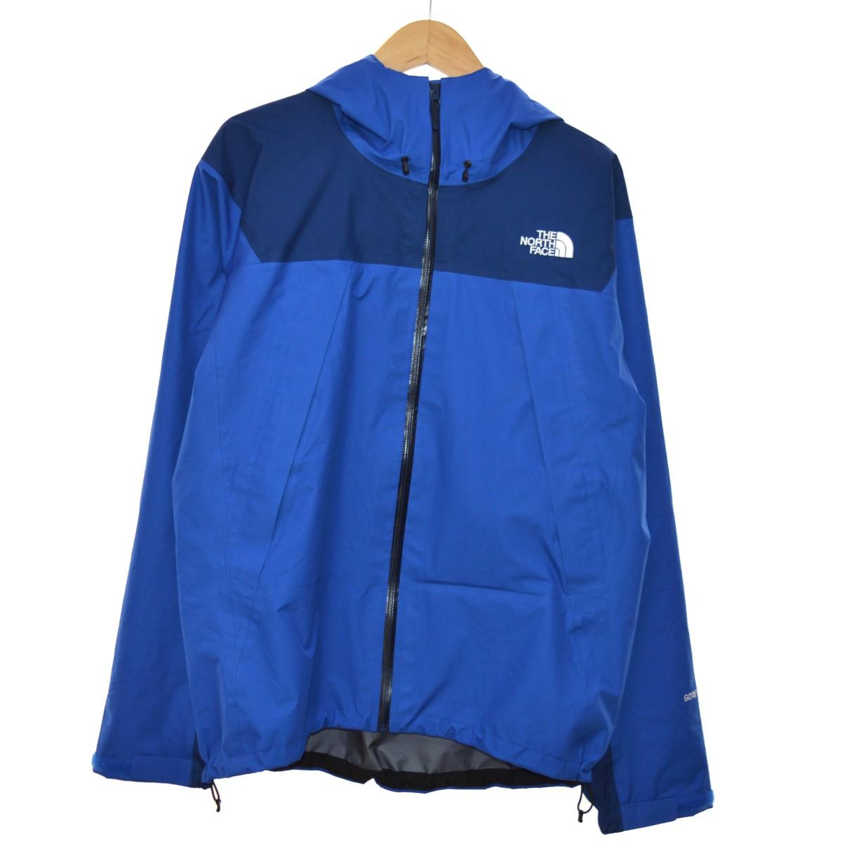 【中古】THE NORTH FACE クライムライトジャケット マウンテンパーカー ブルー サイズ:L 【040520】(ザノースフェイス)