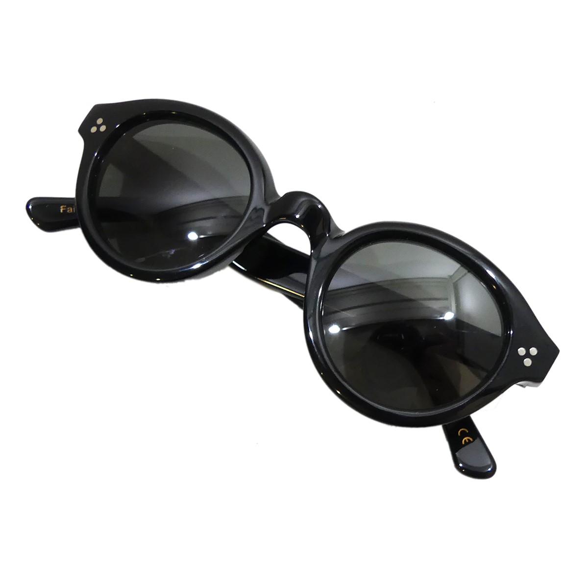 【中古】Lesca LUNETIER サングラス La Corb's ブラック 【040520】(レスカ ルネティエ)