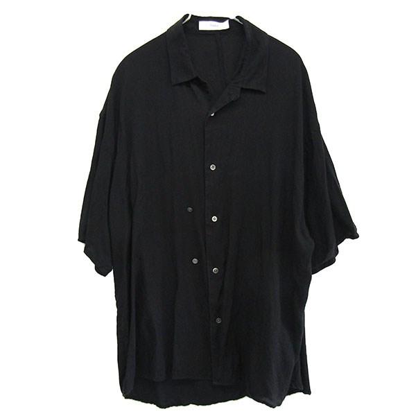 【中古】THEE 2019SS double buttoned short sleeve shirts ブラック サイズ:1 【040520】(シー)